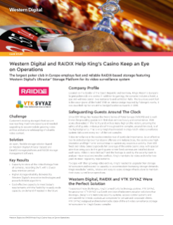 Case Study: Western Digital and RAIDIX Help King's Casino Keep an Eye on Operations